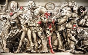 Harley Quinn, digital art, Joker, DC Comics, Batman