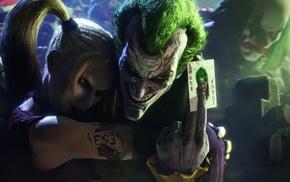 digital art, DC Comics, Batman, Joker, Harley Quinn