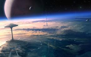 science fiction, futuristic, digital art
