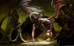 Illidan Stormrage, fantasy art, video games, World of Warcraft, digital art