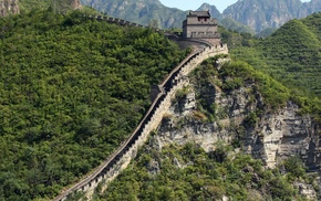 forest, China, Great Wall of China, landscape, nature