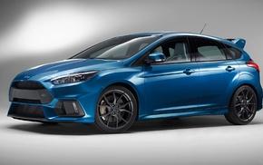 blue cars, car, Ford Focus RS