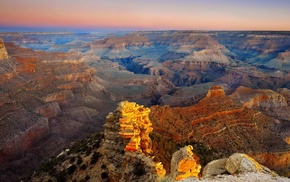 canyon, sunrise, Grand Canyon, nature, landscape, desert