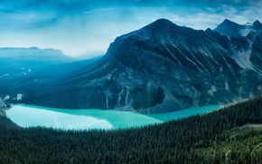 landscape, Moraine Lake, nature, lake, forest, mountain