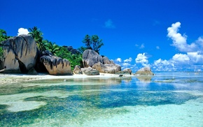rock, landscape, nature, sea, beach