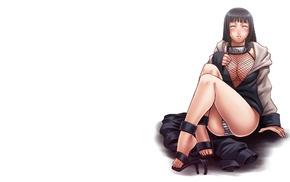 Hyuuga Hinata, panties, Naruto Shippuuden, feet, toes, cleavage