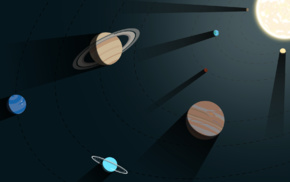 Pluto, minimalism, geometry, sunlight, Earth, Solar System