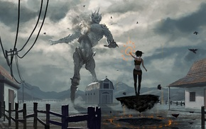 colossus, fantasy art, magic