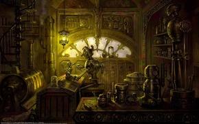 steampunk, robot