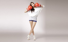 South Korea, model, boxing gloves, girl