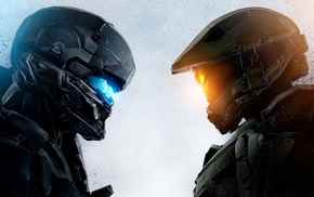 Halo 5, video games, Spartan Locke, artwork, Master Chief