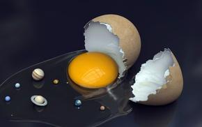 planet, Solar System, eggs