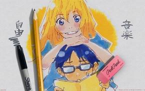 Arima Kousei, Miyazono Kaori, anime