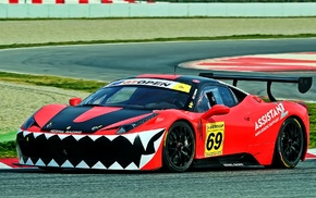 racing, Ferrari Challenge, race cars, Ferrari 458 Italia GT3, car