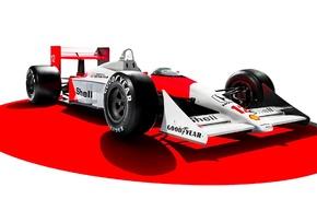 1988, Honda, 3D, McLaren MP4, 4, white background