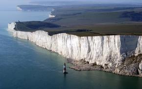 landscape, nature, sea, coast, Seven Sisters, England