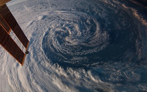 hurricane, space