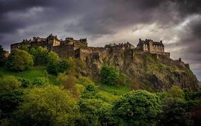 Scotland, UK, Edinburgh, landscape, castle