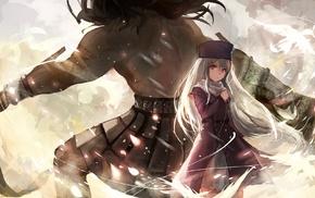 Illyasviel von Einzbern, birds, anime, Berserker FateStay Night, FateStay Night, Fate Series