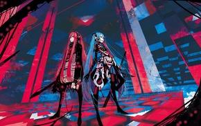 guitar, Hatsune Miku, Vocaloid, Megurine Luka