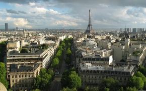 Eiffel Tower, building, Paris, France