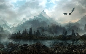 video games, The Elder Scrolls V Skyrim, dragon