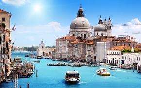 city, Italy, Venice, building, canal