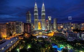 night, Petronas Towers, Malaysia