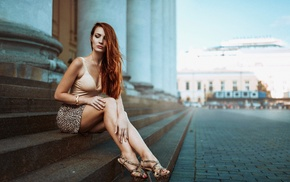 model, redhead, girl