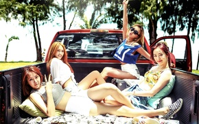 Asian, South Korea, Sistar Kpop, girl, car, group of girl