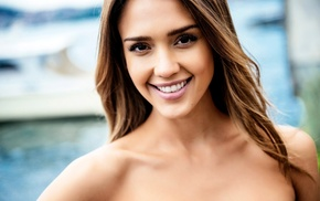 movies, girl, actress, Jessica Alba, face