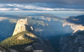 multiple display, Yosemite National Park, Half Dome, landscape