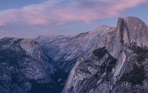 Yosemite National Park, Half Dome, landscape, multiple display