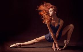 ballerina, redhead, girl, model