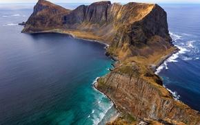 summer, island, landscape, Norway, nature, beach