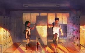 school, school uniform, Vocaloid, Hatsune Miku
