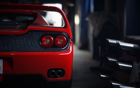 car, red cars, Ferrari F50, vehicle