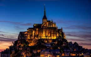 France, building, Mont Saint, Michel