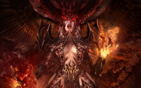 demon, artwork, fantasy art, succubus