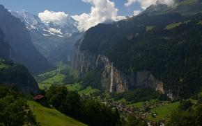 nature, mountain pass, villages, landscape