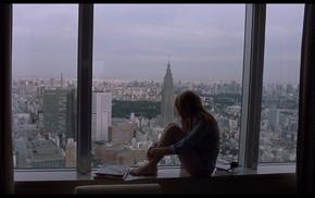Scarlett Johansson, model, Tokyo, Lost in Translation, cityscape, girl