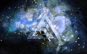 triangle, nebula, space, abstract