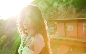singer, Demi Lovato, sunlight, girl, face