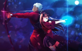 anime, Fate Series, Tohsaka Rin, Archer FateStay Night