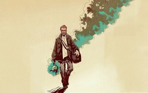 artwork, Walter White, Heisenberg, Breaking Bad, smoke