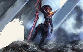fantasy art, sword, Kill la Kill, girl, Matoi Ryuuko