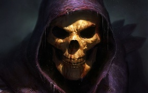 Skeletor, fantasy art, Grim Reaper, skull, He, Man