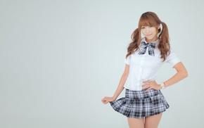 skirt, girl, South Korea, model, Asian, schoolgirls