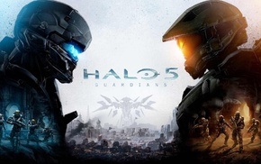 Master Chief, science fiction, video games, Halo 5, Spartan Locke, Frictional Games
