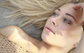 girl outdoors, model, face, blue eyes, girl, portrait